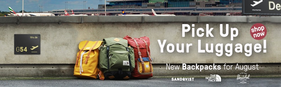 Pick Up Your Luggage! ---New Backpacks for August---
